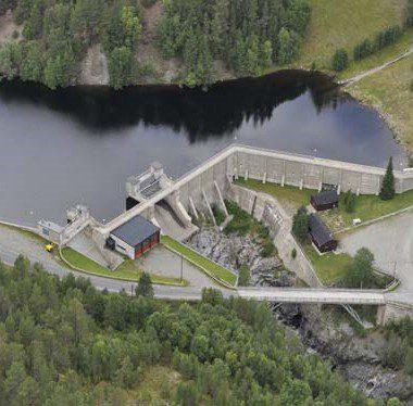 Anleggsarbeid ved dam Olstappen