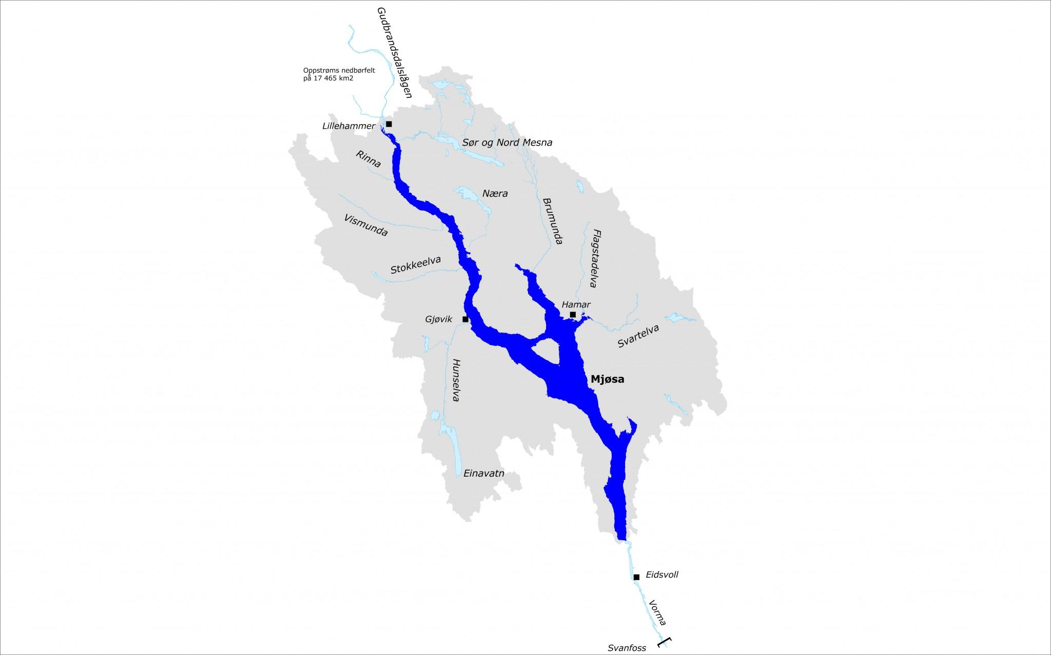 båttrafikk kart Mjøsa   Glommens og Laagens Brukseierforening båttrafikk kart